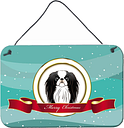 Caroline's Treasures BB1540DS812 Japanese Chin Merry Christmas Wall or Door Hanging Prints, 8x12, Multicolor