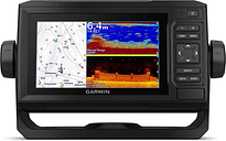 "Garmin ECHOMAP UHD 62Cv, 6"" Keyed Chartplotter with Worldwide Basemap"
