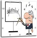 3dRose Funny Music Professor Teacher Cartoon - Wall Clock, 10 by 10-Inch (DPP_118691_1)