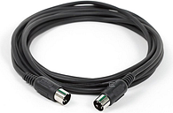 Monoprice 108534  MIDI Cable - 15 Feet - Black With Keyed 5-pin DIN Connector, Molded Connector Shells