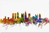 "Atlanta Georgia Skyline  by Michael Tompsett, 12 x 19"" Canvas Wall Art"