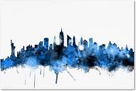 New York Skyline II by Michael Tompsett, 22x32-Inch Canvas Wall Art