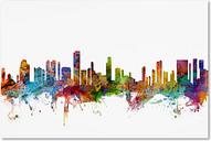 Honolulu Hawaii Skyline by Michael Tompsett, 16x24-Inch Canvas Wall Art