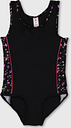 Black Geo Print Side Panel Swimsuit - Tu Clothing by Sainsbury's