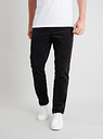 Men's Charcoal Grey Slim Fit Corduroy Trousers With Stretch