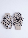 Dalmatian Print Faux Fur Flip Top Mittens - Tu Clothing by Sainsbury's