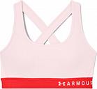 Sujetador deportivo under armour mid crossback rosa mujer xs