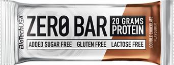 Barrita de proteina zero bar biotechusa 50g doble chocolate