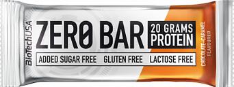 Barrita de proteina biotechusa zero bar 50g chocolate caramel