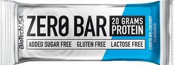 Barrita de proteina biotechusa zero bar 50g chocolate con coco