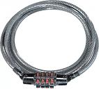 Candado de cable con combinación Kryptonite - Negro, Negro