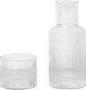 Ferm Living Ripple carafe set, small, clear