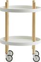 Normann Copenhagen Block table trolley, round, white