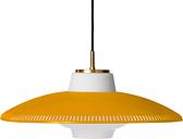 Warm Nordic Opal Shade pendant, honey yellow