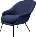 GUBI Bat lounge chair, low, Vidar 3/554 - black base