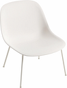 Muuto Fiber lounge chair, tube base, white