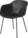 Muuto Fiber armchair, tube base, black