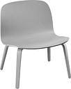 Muuto Visu lounge chair, grey, PU lacquer