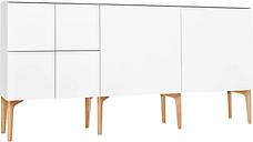Lundia Fuuga sideboard, 192 cm, white - oak