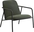 Normann Copenhagen Pad lounge chair low, black steel - black - Synergy LDS 41