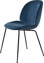 Gubi Beetle chair, black steel - Dandy 602