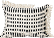 Ferm Living Way cushion, 70 x 50 cm, off white - dark blue