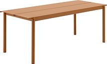 Muuto Linear Steel table 200 x 75 cm, burnt orange