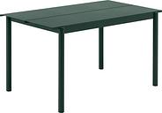 Muuto Linear Steel table 140 x 75 cm, dark green