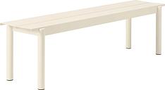 Muuto Linear Steel bench 170 cm, off white