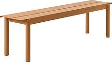 Muuto Linear Steel bench 170 cm, burnt orange