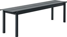 Muuto Linear Steel bench 170 cm, black