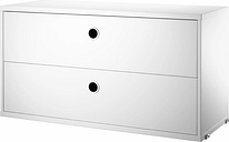 String Furniture String chest with 2 drawers, 78 x 30 cm, white