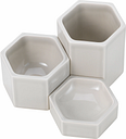 Vitra Hexagonal containers, set of 3, light grey