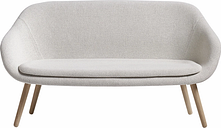 Hay About A Lounge Sofa, clear lacquered oak - Coda 100