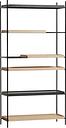 Woud Tray shelf, high, 2+2 oak - 2 black