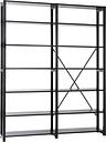 Lundia Classic open shelf, double, black