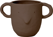 Ferm Living Mus plant pot, large, red brown