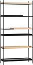 Woud Tray shelf, high, 1+2 oak - 1+2 black