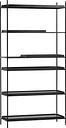 Woud Tray shelf, high, black
