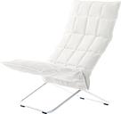 Woodnotes K chair, narrow, chrome - white