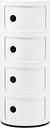 Kartell Componibili storage unit, 4 modules, white