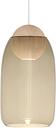 Mater Liuku Ball pendant, smoked glass shade