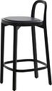 Woodnotes Siro+ bar stool 65 cm, black - black leather