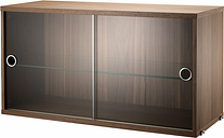 String Furniture String display cabinet, walnut