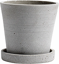 HAY Flowerpot and saucer, S, grey