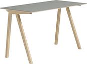 Hay CPH90 desk, matt lacquered oak - grey lino