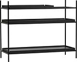 Woud Tray shelf, low, black