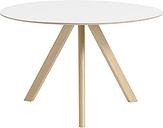 Hay CPH20 round table 120 cm, matt lacquered oak - white laminate