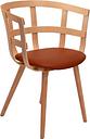 Inno Julie chair, matt lacquered ash - cognac leather