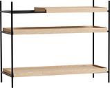 Woud Tray shelf, low, oak